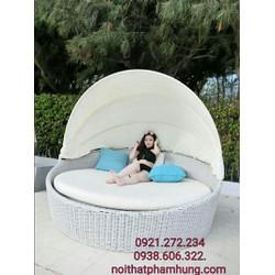 Chuyên sản xuất giường mây nhựa cao cấp