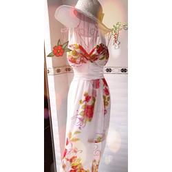Đầm Maxi hoa cúp ngực
