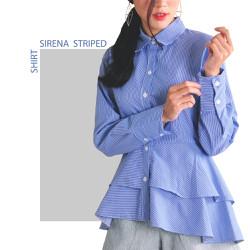 SIRENA SHIRT - Áo sơ mi nữ xanh kẻ sọc - Đồ công sở đẹp
