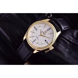 đồng hồ dây da kính saphire