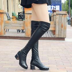 Giày bốt nữ sành điêu, trẻ trung - Mã số 590160