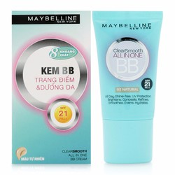 Kem BB Maybelline Clear Smooth All In One SPF 21 PA màu 01 Fresh 18ml