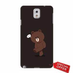 Ốp lưng nhựa dẻo Samsung Note 3_Gấu Brown Dễ Thương