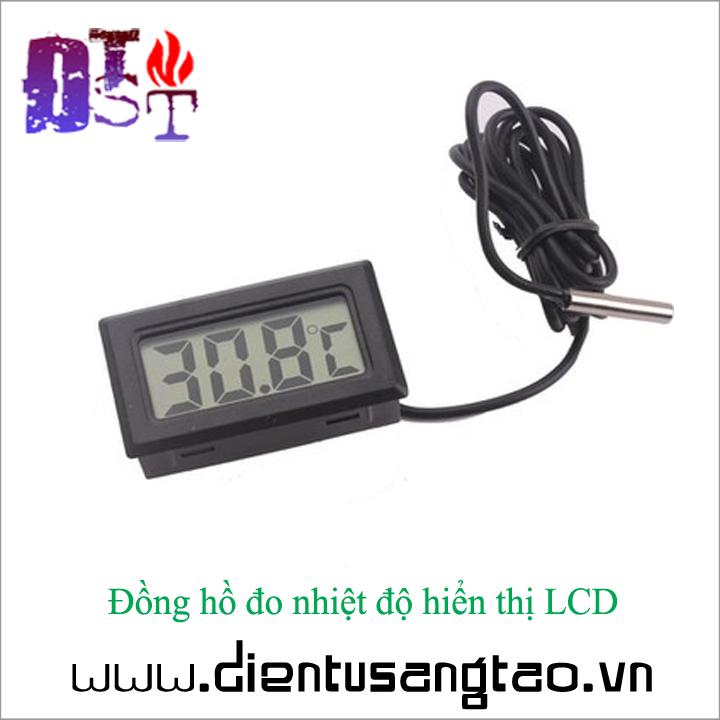 Đồng hồ đo nhiệt độ hiển thị LCD 1
