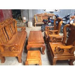 Bộ bàn ghế gỗ Sồi Nga