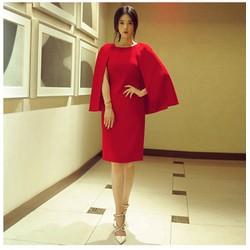 Đầm công sở choàng vai quý phái, sang trọng - Size M L