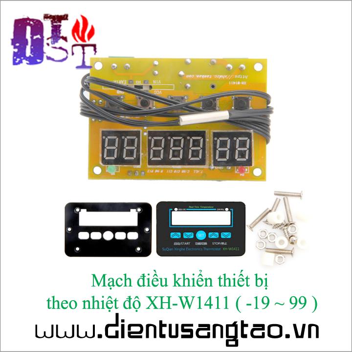 Mạch điều khiển thiết bị theo nhiệt độ XH - W1411  -19 đến 99 1