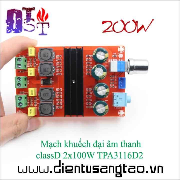 Mạch khuếch đại âm thanh  classD 2x100W TPA3116D2 2