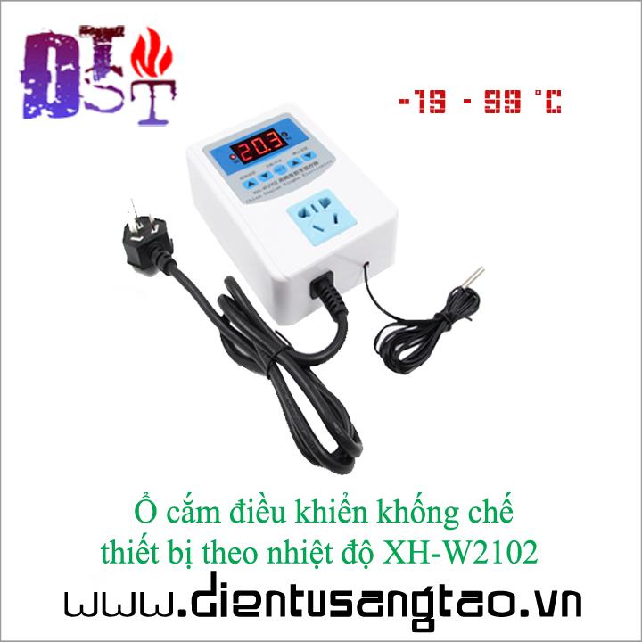 Ổ cắm điều khiển khống chế  thiết bị theo nhiệt độ XH-W2102 1