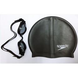 Mũ bơi  silicone đen