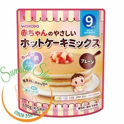Bột làm bánh Pancake Wakodo cho Bé 9m Vị Siro