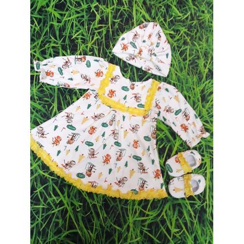 Set váy ren dài tay 3 món cho bé 9-13 kg