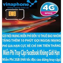 Sim 4G VinaPhone Miễn Phí Truy Cập Facebook Và 2GB Data