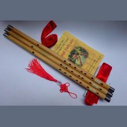 Combo Sáo trúc mão mèo và sách dạy thổi sáo mão mèo - T200