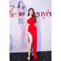 HÀNG CAO CẤP-Đầm dài đẹp dự tiệcthiết kế xẻ tà lệch vai tuyệt đẹp