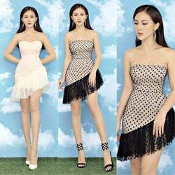 Đầm body chấm bi cúp ngực thiết kế sang chảnh