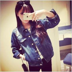 Áo khoác denim nữ cao bồi nhập khẩu Lâm Anh denim01 - xanh đậm