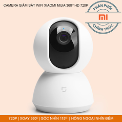 CAMERA WIFI CHÍNH HÃNG XIAOMI MIJIA XOAY 360 ĐỘ HD 720P