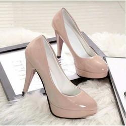 Giày cao gót đế đúp mũi tròn giá rẻ