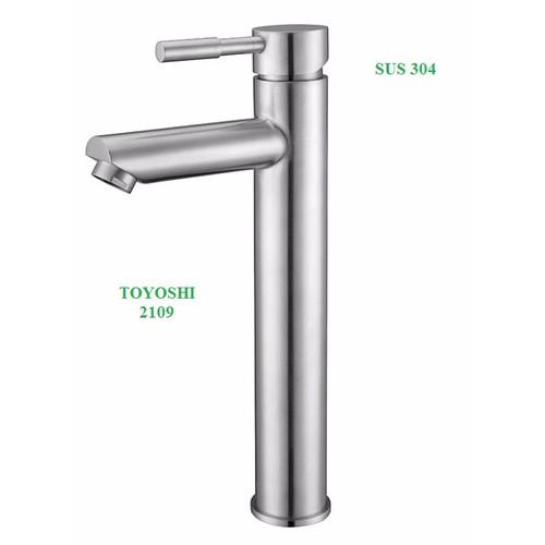 Vòi lavabo nóng lạnh TOYOSHI inox 304
