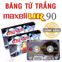 Băng Cassette Trắng Maxell UR™ 90 min - Made in Indonesia
