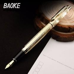 Bút máy thân kim loại mạ màu vàng ngòi M - Baoke PM128
