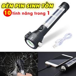 Đèn Pin Siêu Sáng Sinh Tồn 10 tính năng trong 1