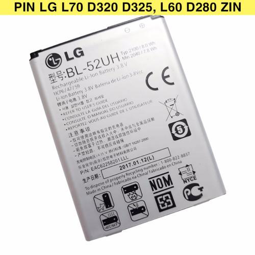 Pin LG L70 D320 D325 BL-52UH dung lượng 2100mAh Zin máy