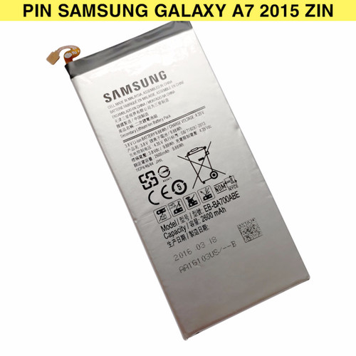 Pin Samsung Galaxy A7 2015 Cell Made in Malaysia 2600mAh Zin - Bạc