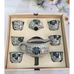 Bộ ấm chén uống trà hoa anh đào xanh