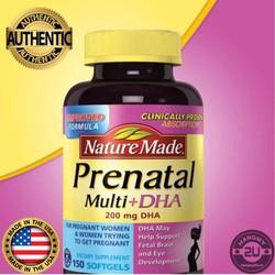 Nature Made Prenatal DHA 150v bổ sung dinh dưỡng cho bà bầu -NEW