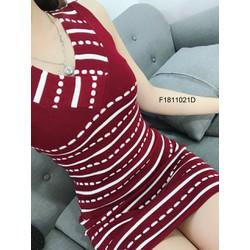 Đầm body len cổ tim sát nách hàng nhập! MS: S181101 Giá sỉ: 120k