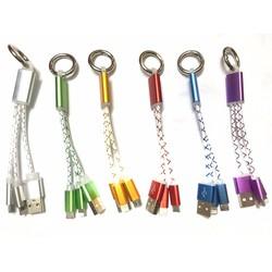Cáp sạc đa năng 3 đầu móc khóa tiện dụng