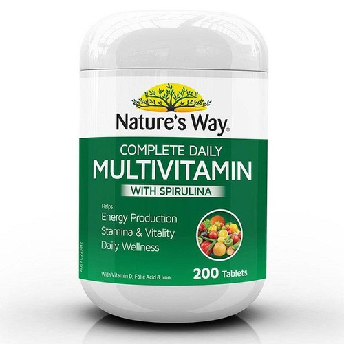 Vitamin tổng hợp natures way multivitamin plus spi rulina - 200 viên
