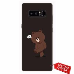 Ốp lưng nhựa dẻo Samsung Note 8_Gấu Brown Dễ Thương