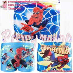 DBE004 - Quần bơi bé trai họa tiết 3D hình người nhện Spider Man