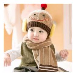 mũ len mặt cười cho bé 5 tháng đến 2 tuổi