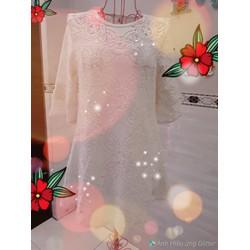 Đầm suông ren hoa