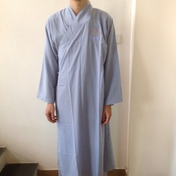 Quần áo phật tử, áo lam đi chùa: Áo tràng Phật Tử thêu sen - GQ171