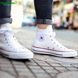Giày Sneaker CV Classic trắng cao cổ hàng VNXK nữ