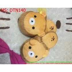 Dép bông mang trong nhà hình gấu pooh đáng yêu DTN140