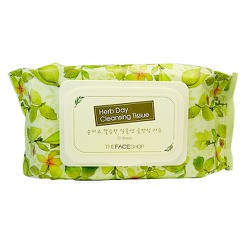 KHĂN GIẤY TẨY TRANG THE FACE SHOP  HERB DAY CLEANSING TISSUE70 MIẾNG