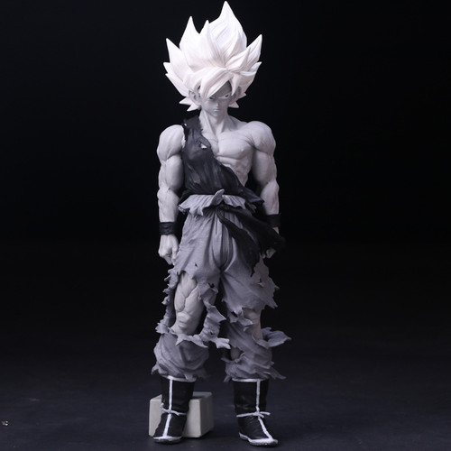 Mô hình figure dragon ball msp son goku 34cm bản đen trắng