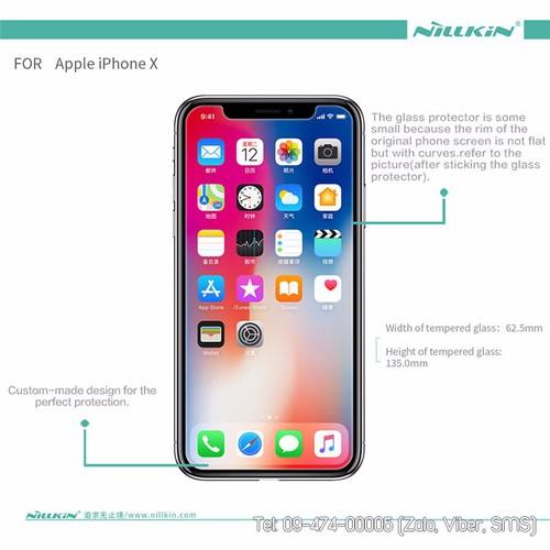 Cường lực iphone x nilkin 9h chính hãng giá rẻ