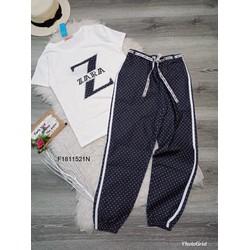 Set bộ thun áo Zar tay con quần dài hoạ tiết MS: S181114 sỉ: 125k
