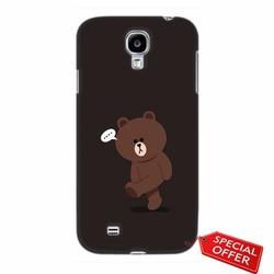 Ốp lưng nhựa dẻo Samsung Galaxy S4_Gấu Brown Dễ Thương