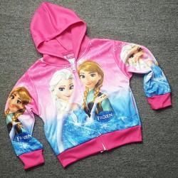 Áo khoác bé gái in hình công chúa băng giá CC190