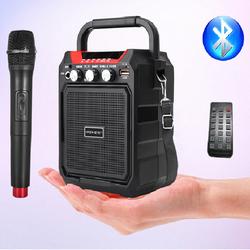 Loa Bluetooth karaoke du lịch S15 tặng kèm micro không dây