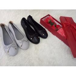 giày búp bê nơ chun đơn giản