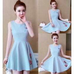 Đầm xòe thời trang công sở hàng thiết kế đẹp